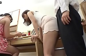 Japanese mom in short comprehensive seduces..
