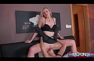 Afina Kisser &_ Coco De Mal mature blonde and..