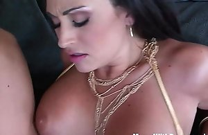 Mature Claudia Valentine Gags Over Pole Dancing..