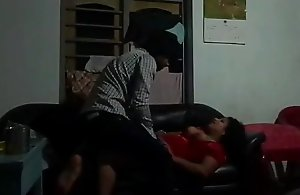 Indian Full-grown aunty fucking with Juvenile..