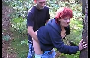 Red Follower mature fucked outdoor