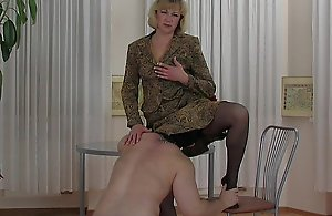 Blonde Mature Mom with juvenile boy