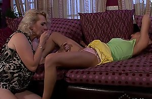 He finds mature and teen sapphist orgy