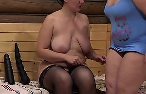 Mature lesbian chicks fence in panties nearby..