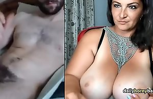 Matured Omegle Busty Milf Watches Guy Jerk Absent