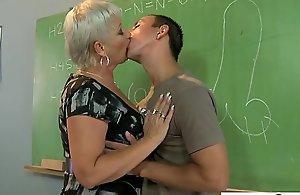 Pervert student fucks mature trainer