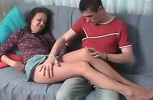 Russian Mom In Pantyhose Fucked By A..