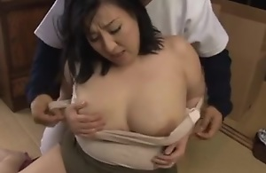 Japanese BBW Mama Dearth Young Cock..