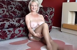 Golden-Haired Large Titty Older Solo..