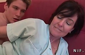 French mommy seduces scrounger and..