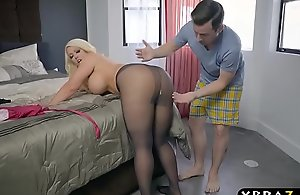 Bbw stepmom is sexually excited and..