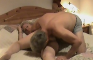 Hidden camera shows mature treated close to oral..