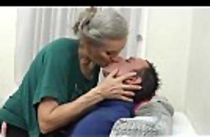 Grey hair elderly grandmother fucking