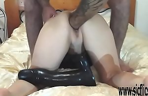 XXL pussy fisting and colossal sex toy..