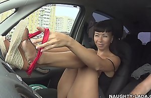 I was not bored in a traffic jam nude-public