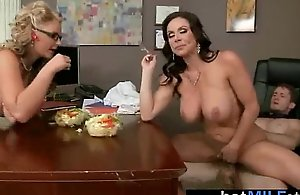 Hot milf riding large dong on tape (kendra..