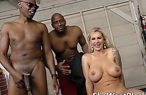 Big tit milf replica permeated by dark jocks