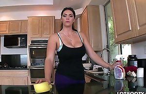 Big butt dark brown breasty maid alison tyler..