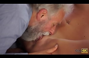 OLD4K. Nice cock of old teacher was main target..