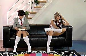 British milf spanks nasty schoolgirls