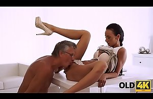 OLD4K. Hot sex is how old boss and his..
