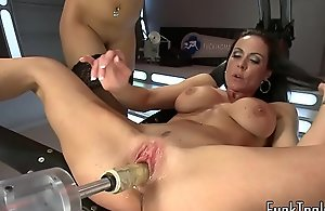 Busty machine milf muff seduced more les sex