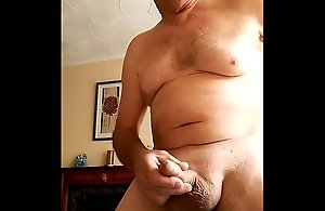 Undressing and cumming