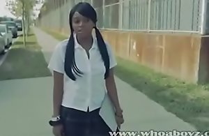 Ebony instructor dame forced