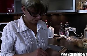 Matured stepmom comforting a scintillate hearted..