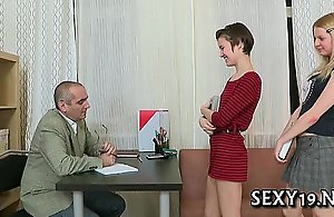 Fellatio for superannuated teacher