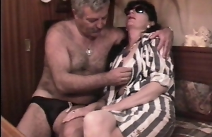 Vintage French sex video with a mature..