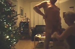 Grandpa and grandma have a christmas..