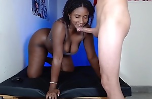 Chubby black woman with an fabulous big ass..
