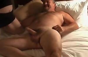Mature chubby swinger threesome cuckold retrench..