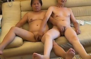 Oriental Grandpa And Grandma Record Their Sex Time