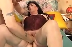 Chubby brunette mature wife fisted hard on..