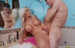 Nina Elle roughly They Feel Real To Me - BRAZZERS