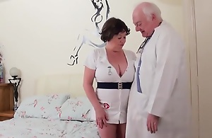 Dirty doctor fucks his BBW naughty nurse mature..