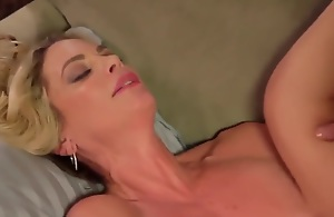 Mom caught son jerking and help him