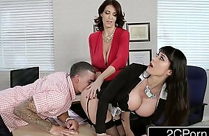Fantasy teacher vs stepmom three-some for a..