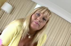 Insatiable, blonde milf with massive..