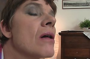 Old granny in nylons gives head and..