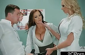 Dirty Nurse Trio With One Casual Guy -..