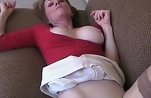Amateur Granny Three-some On the top..