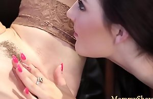 Lesbo stepdaughter licking mummies wet pussy