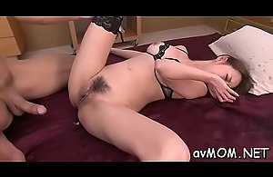 Immodest milf deep throats beamy dick and then..