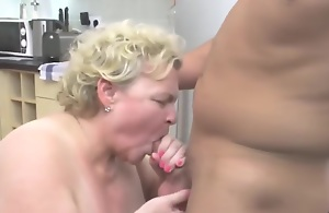 Taboo Copulation With Big Granny And Boy