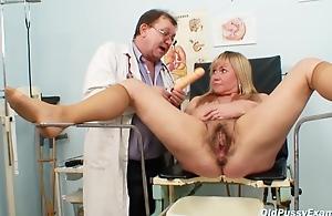 Czech Blonde Granny Suggests Her Hairy..