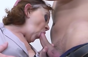 Granny Added to Grandson Try Taboo Sex