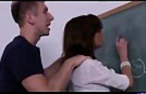 Nerdy teacher is a obscene milf
